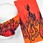 Multifunction Face Mask Scarf Orange/Blk Flames  (60192G) 12 per pk .75 each