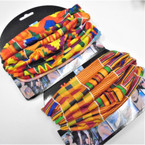Carded Multifunctional Scarf/Headwear/ Mask  African Clothes Print   .66  each