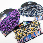 Carded Multifunctional Scarf/Headwear/ Mask  Leopard Print 3 colors   .66  each