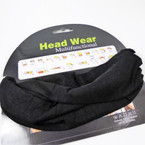 Carded Multifunctional Scarf/Headwear/ Mask  All Black  .66  ea