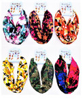 Carded Multifunctional Scarf/Headwear/ Mask  Mixed Prints   .66  ea