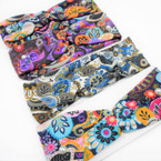 "3"" New Cool Multi Pattern Print Stretch Headbands   12 per pk   .58 each"