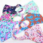 6 Style Mixed Paisley/Flower Print Face Masks  Washable & Reusable 12  per pk  $1.00 ea