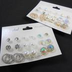 Great Value Pack 9 Pair Earrings as shown .54 per set