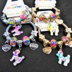 KID'S Poodle Charm Theme Spring Style Fashion Bracelets Silver .54 each