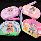 "3.5"" X 5"" Girl's Theme Zipper Bag w/ Wrislet Mixed Styles .56 each"