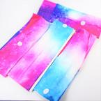 "3"" Tye Dye Galaxy Pattern Stretch Headbands   12 per pk   .56 each"