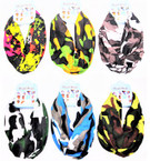 Carded Multifunctional Scarf/Headwear/ Mask  Mixed Pack   (52) .66  ea