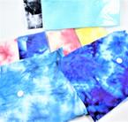 "7"" X 9.5"" Tye Dye Stretch Spandex Headbands Mixed Colors .50 each"