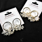 Petite Gold & Silver Fashion Earring w/ Mini Pearls & Crystals .54 per pair
