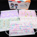 Girl's  3 Layer Protection  Disposable Face Masks  50 pcs per pack  .20 each