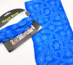 Carded Multifunctional Scarf/Headwear/ Mask  Royal  Blue Bandana Print   .66  each