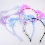 Trendy Tinsel Style Cat Ear Headbands Asst Colors  .56 each