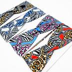 """3"""" Leopard/Zebra Pattern Print Stretch Headbands  12 per pk   .58 each"""