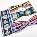 "3"" New Fashionable Print Stretch Headbands  12 per pk   .58 each"