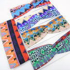 "3"" Fashionable Tribal Theme  Stretch Headbands  12 per pk   .58 each"