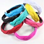 Trendy Padded Braid Style  Fashion Headbands w/ Sparkle  .56 each