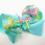 "5"" Multi Layer Gator Clip Bows w/ Mini Curly Ribbons .54 ea"
