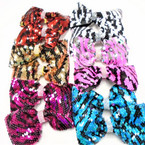 "BEST BUY  5"" Multi Color Sequin Gator Clip Bows w/ Cry. Stones  .54 ea"