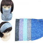 Multifunctional Cool Fabric Scarf/Headwear/ Mask w/ Ear Cuff  5 colors  $ 1.16  ea