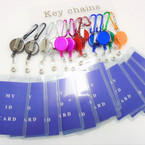 "4"" Asst Color Clip On Retractable ID Holder (Vertical) .56 ea"