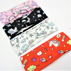 "2.5"" Kid's Fashion Stretch Headbands Unicorn Theme .54 each"