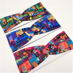 "3"" Multi Color Mixed Pattern Fashion Stretch Headbands  .56 each"