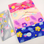 "2.5"" X 7""  Kid's Fashion Stretch Headbands Pineapple Theme .54 each"