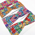 "3"" Multi Color Print Pattern Fashion Stretch Headbands  .58 each"