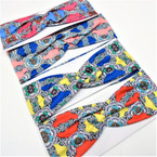"3"" Multi Color Print Royal Pattern Fashion Stretch Headbands  .58 each"
