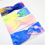 "Trending 3"" Stretch Headband Summer Tye Dyes (38)    .58 each"