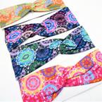 "3"" New Age Look Print Stretch Headbands (46)  12 per pk .58 each"