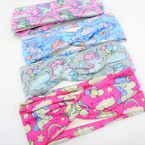 "2.5"" Kid's Fashion Stretch Headbands Baby Unicorn Theme .54 each"