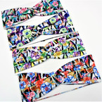 "3"" Multi Color Flower Print Fashion Stretch Headbands (51)   .58 each"