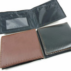 Black & Brown Mens Wallets Bi Fold Style .56 each