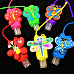 """3"""" Butterfly/Dragonfly  Theme Scented Hand Santizers 12 per pk .65 each"""