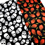 Carded Multifunctional Scarf/Headwear/ Mask 4 Style  Skull Theme   .66  ea