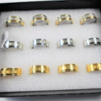 Stainless Steel Fashionable Band Rings 3 color groups  .54 each