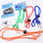 Kid Colorful Adjustable Cord Mask Holder Necklaces w/ Easy Clip  .50 ea