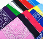 "21"" Square Cotton Bandana 12 Mixed Colors per dz  .56 each"