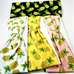"3"" Pineapple Theme Stretch Headbands Asst Colors (1915) 12 per pk  .58 each"