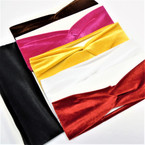 "3"" Velvet  Stretch Headband  mixed winter colors  .58 each"