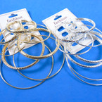 4 Pair Lg. Size Gold & Silver Hoop Earrings .56 per set