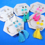 Value Pack Tassel Fashion Earring Set 56 per set