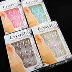 Sparkle Flake  2 Pk Pre Glued Fashion Nails (3206) Asst Colors .54 each set