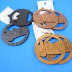 "2.5"" Music Note Theme Wood Earrings .54 per pair"