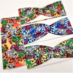 "3"" Wide Multi Color Safari Look Stretch Headbands  12 per pk .58 ea"
