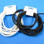 8 Pk Elastic Ponytail Holders Blk & White .52 per set
