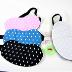 "4"" X 8"" Poka Dot  Theme Sleeping Masks w/ Elastic Back (333)  .60 each"