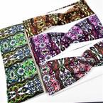 "3"" Wide Mixed Fashion Print  Stretch Headbands (1245) 12 per pk .58 ea"